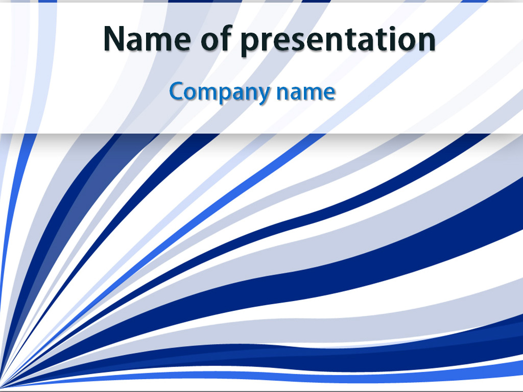 Free Blue Strings Abstract PowerPoint template presentation
