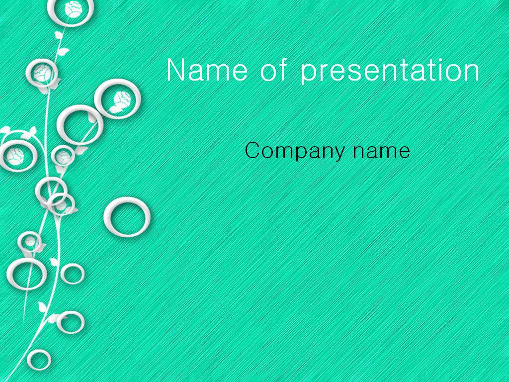 Free White Circles PowerPoint template presentation