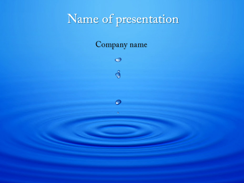 Dripping water powerpoint template
