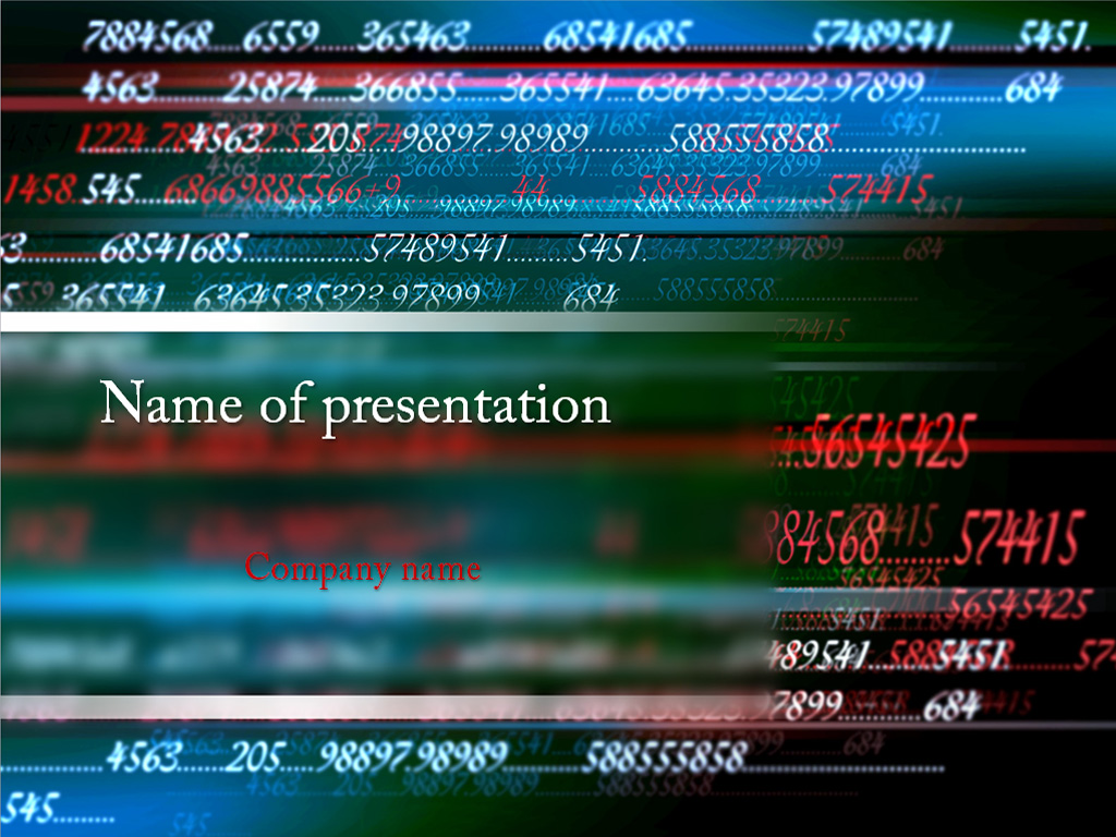 Mathematics Numbers powerpoint templates presentation