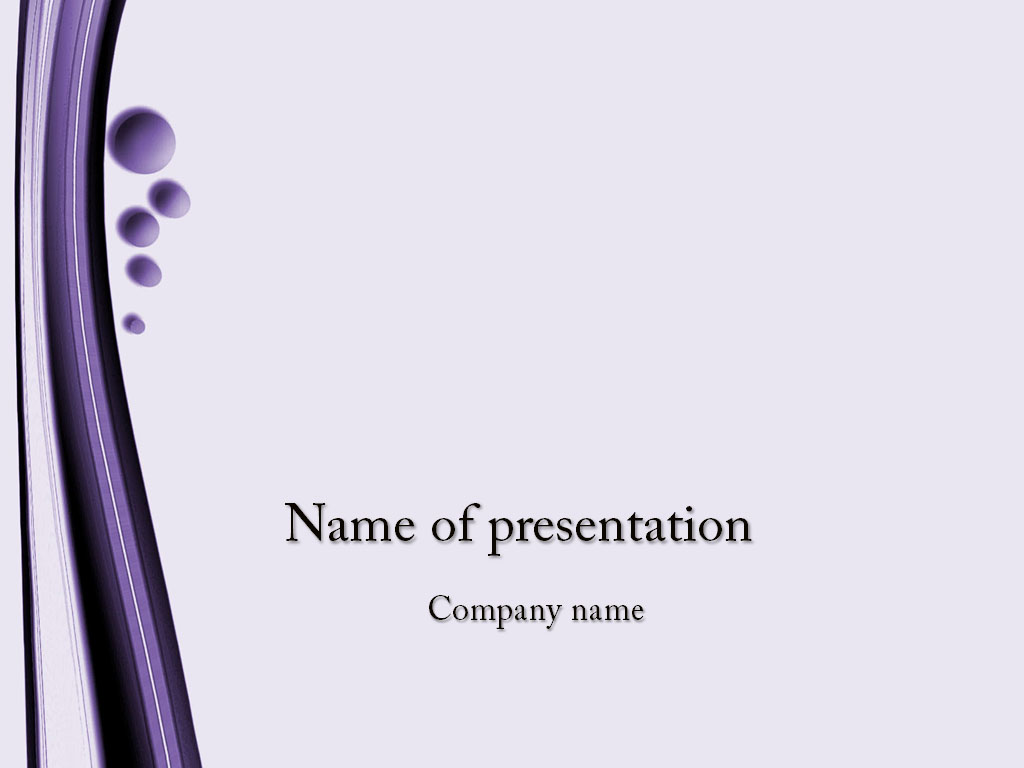 Violet Bubbles powerpoint template