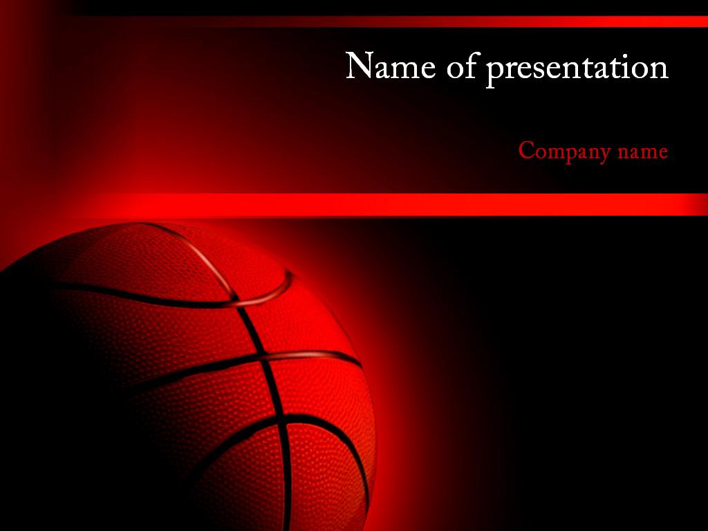 free basketball powerpoint template presentation
