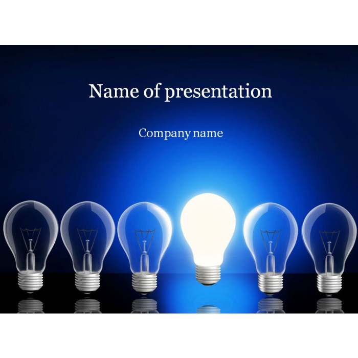 Lamp powerpoint template
