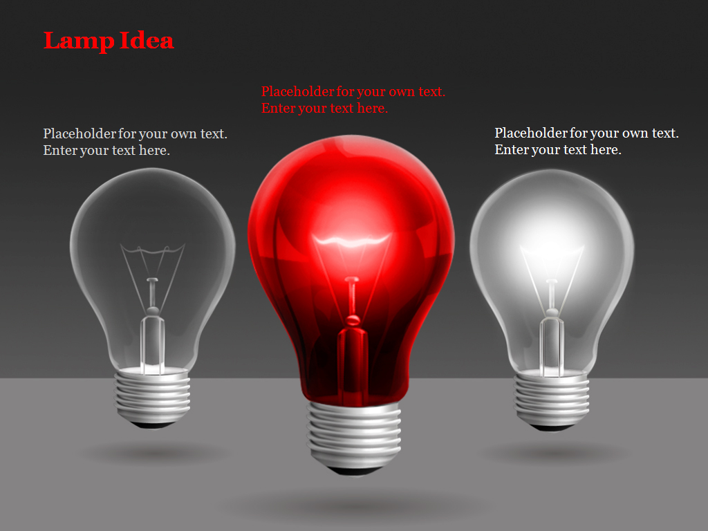 Lamp Idea Powerpoint Charts and Diagrams