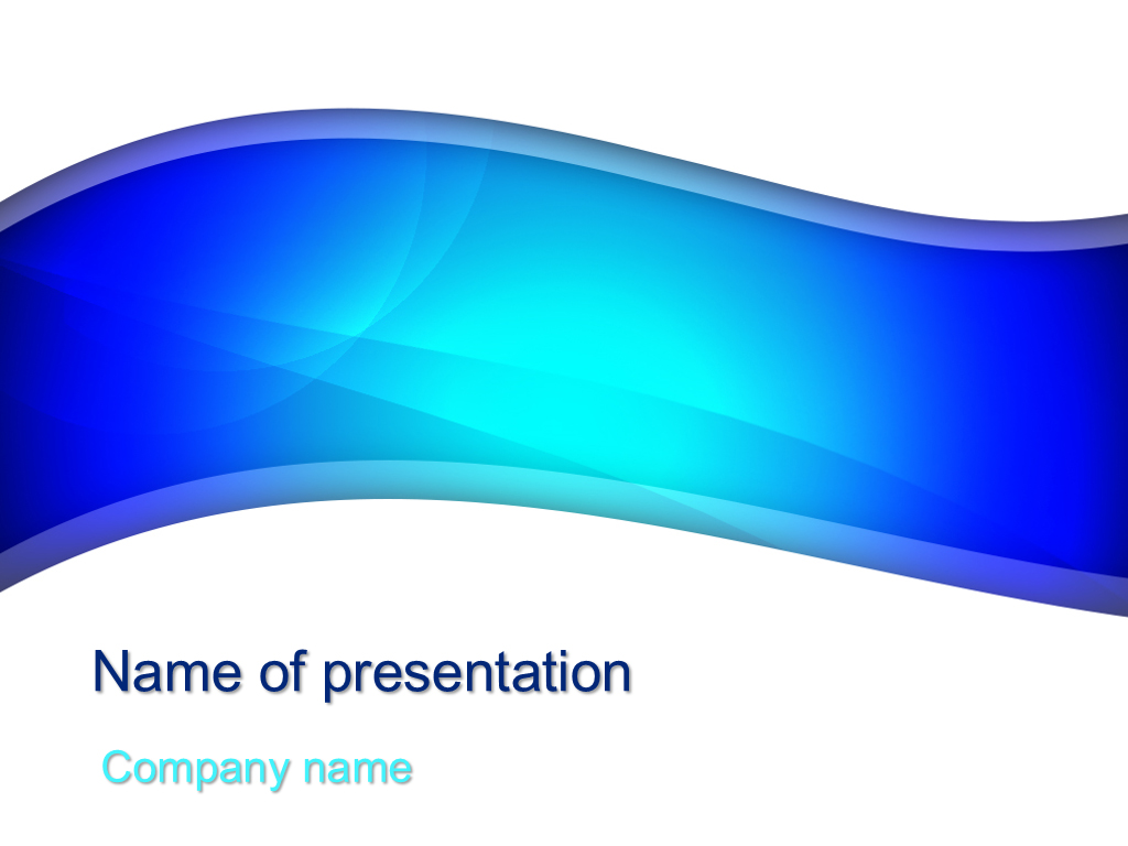 Free Beautiful blue powerpoint template presentation