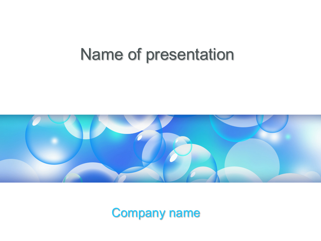 Free Soap Bubbles powerpoint template presentation