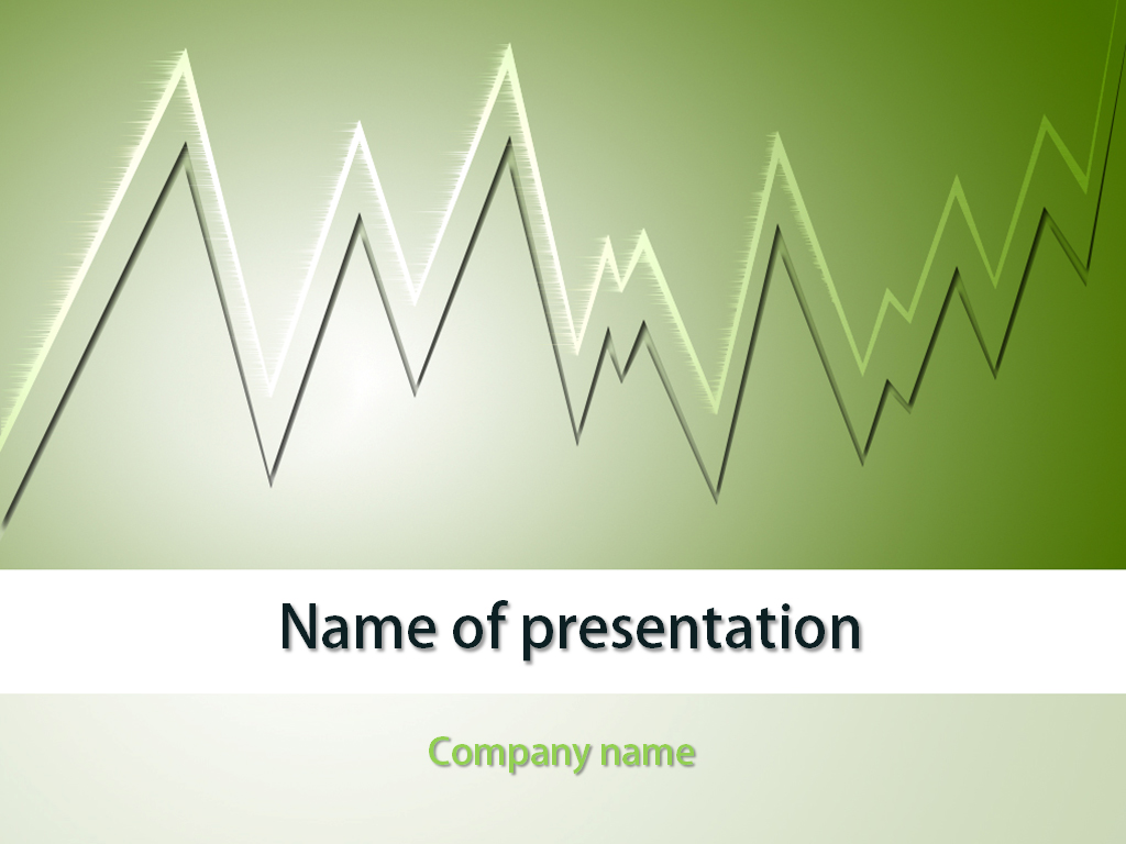 Free Economic chart PowerPoint template presentation