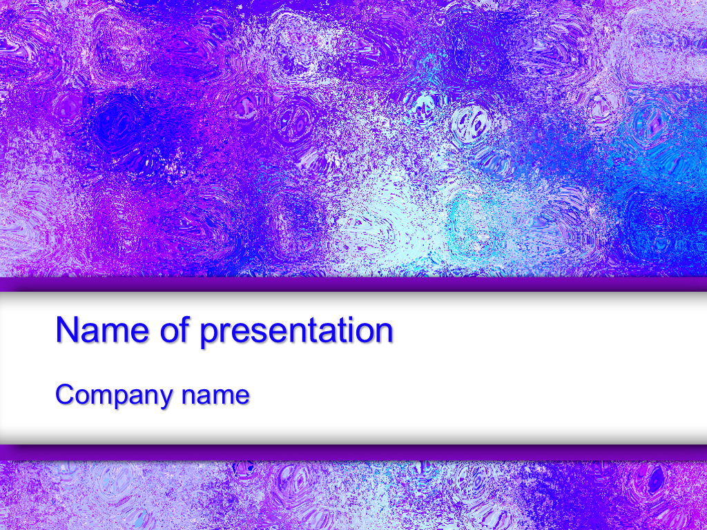 Free Violet ice powerpoint template presentation