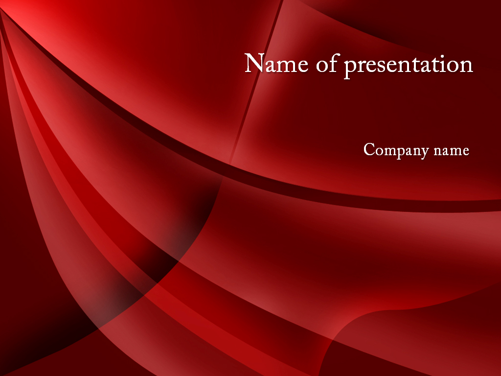 Free red curl powerpoint template presentation