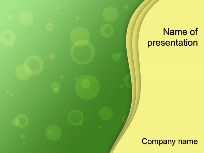 Free rising bubbles powerpoint template presentation