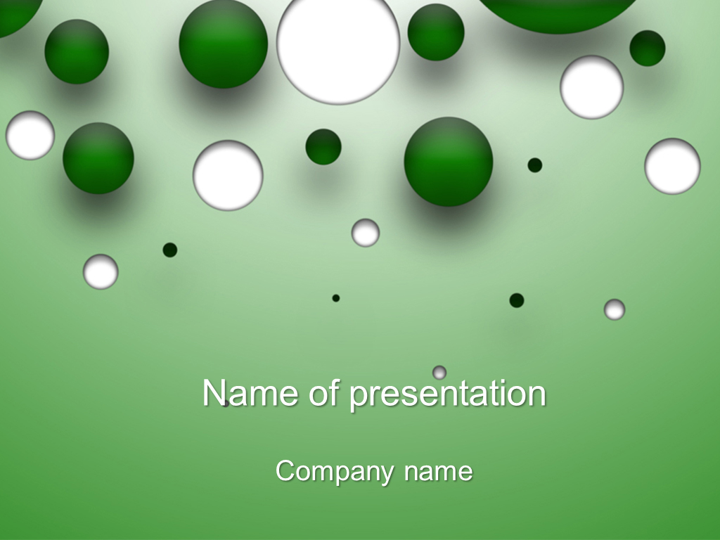 Free white bubbles powerpoint template presentation